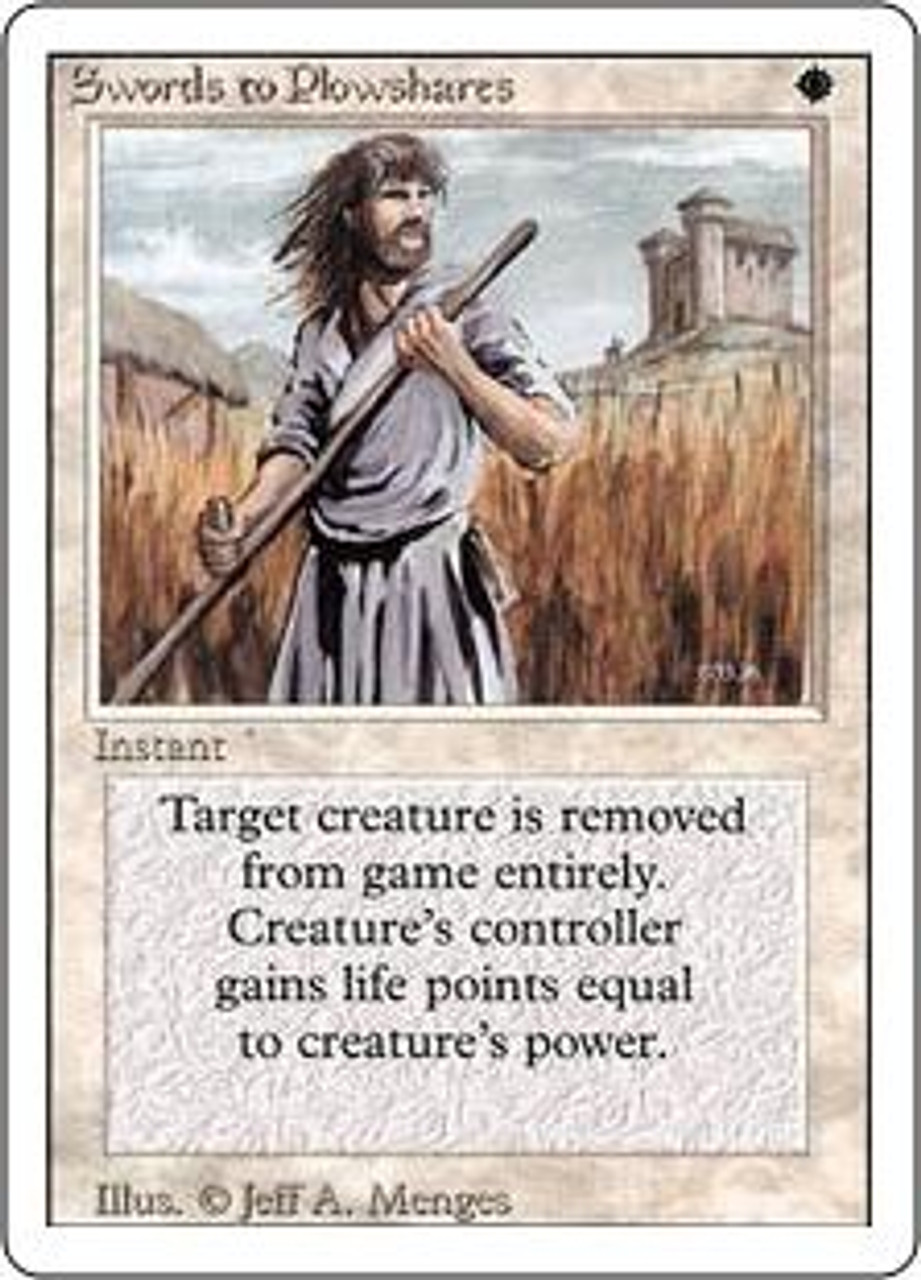 MtG Revised Uncommon Swords to Plowshares [Near Mint / Mint]