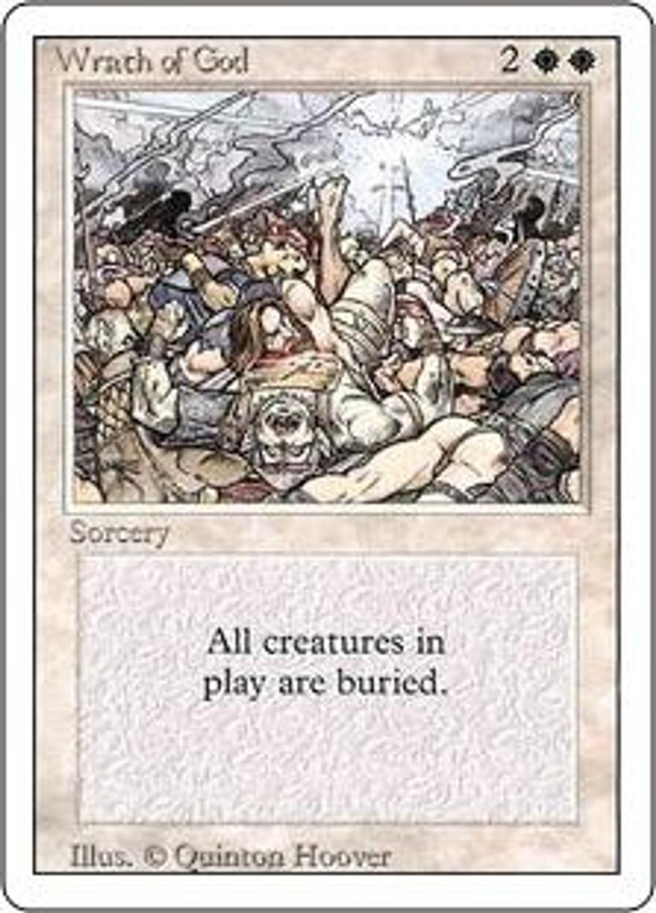 MtG Revised Rare Wrath of God [Slightly Played]