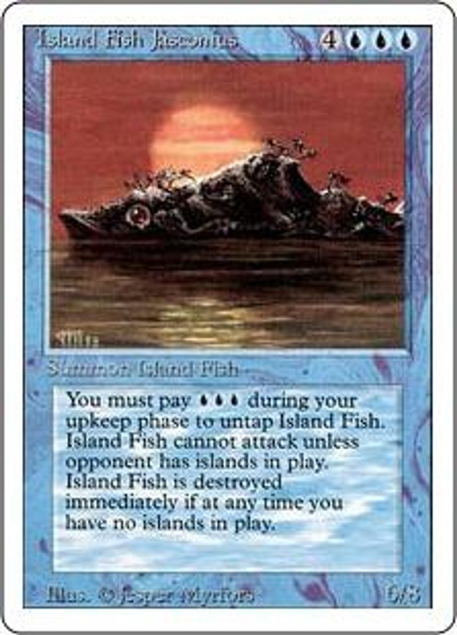 MtG Revised Rare Island Fish Jasconius
