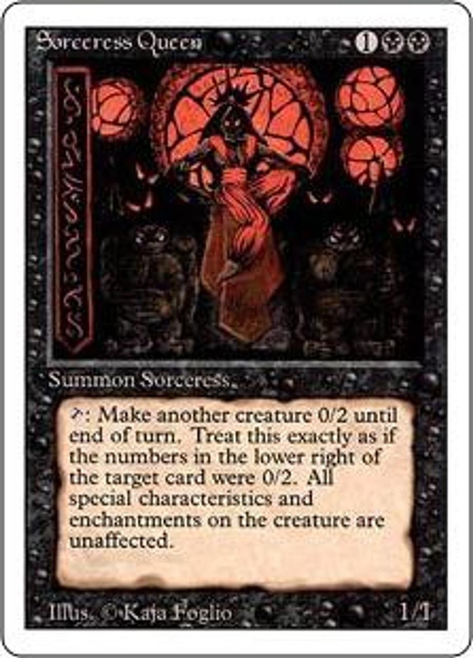 MtG Revised Rare Sorceress Queen