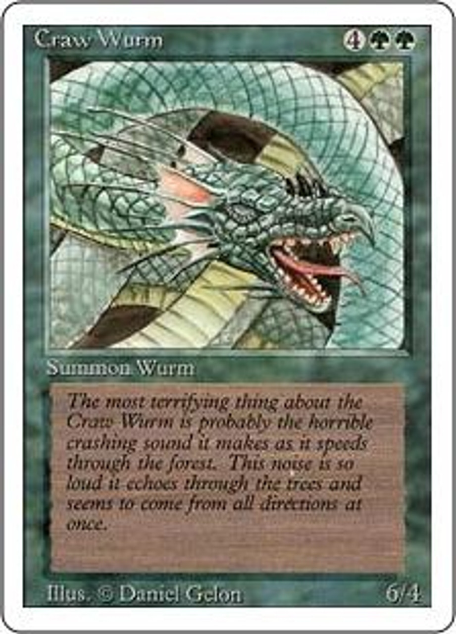 MtG Revised Common Craw Wurm