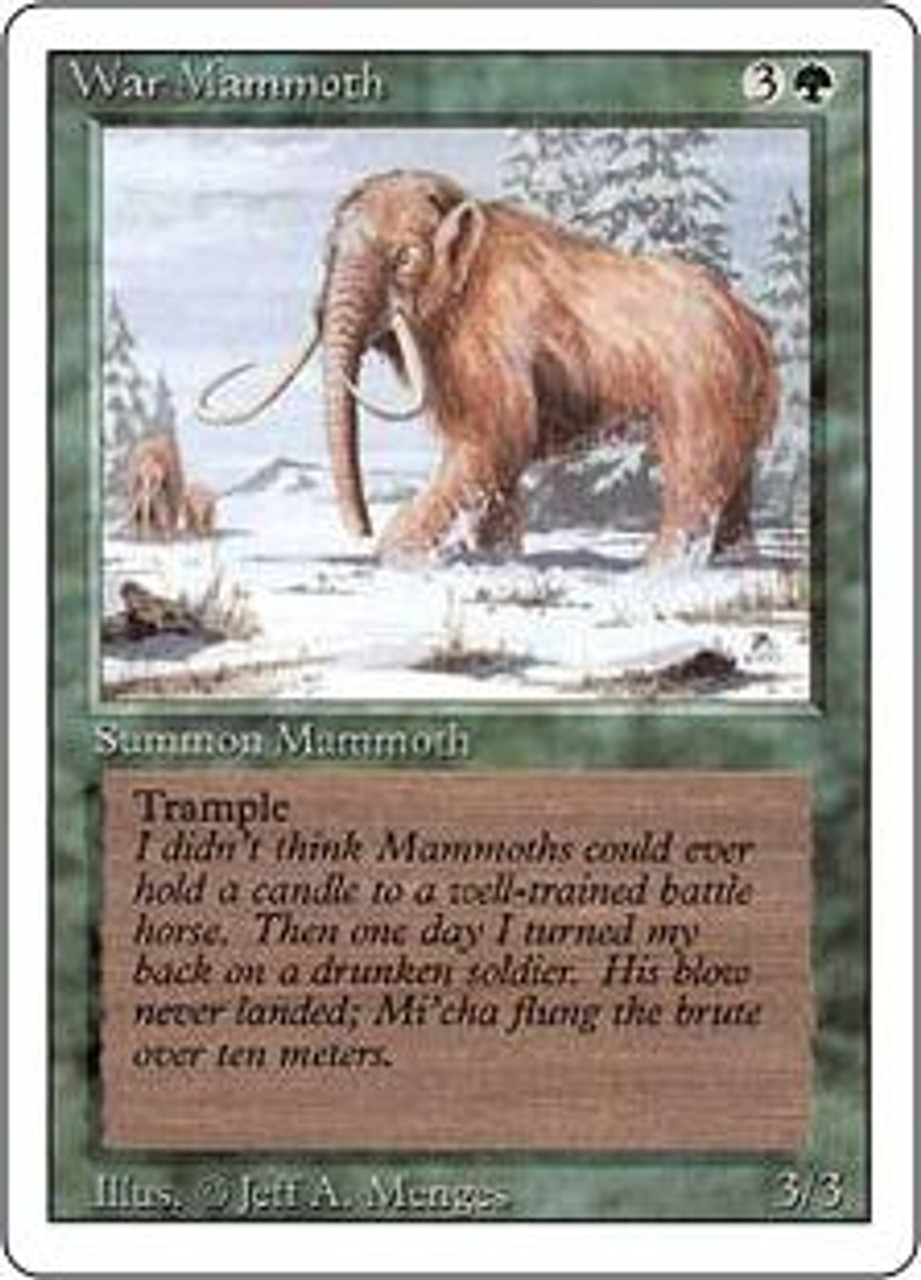 MtG Revised Common War Mammoth