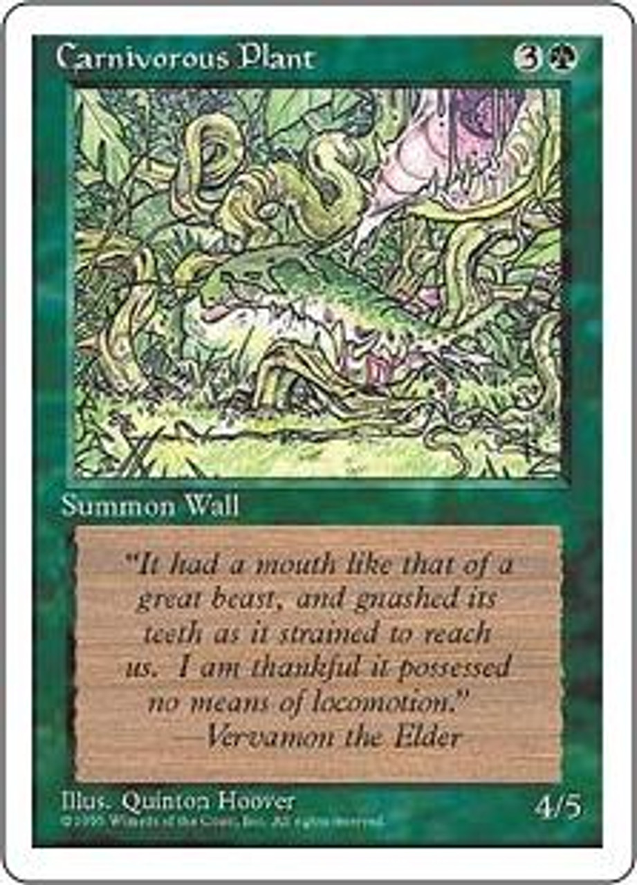 MtG 4th Edition Common Carnivorous Plant