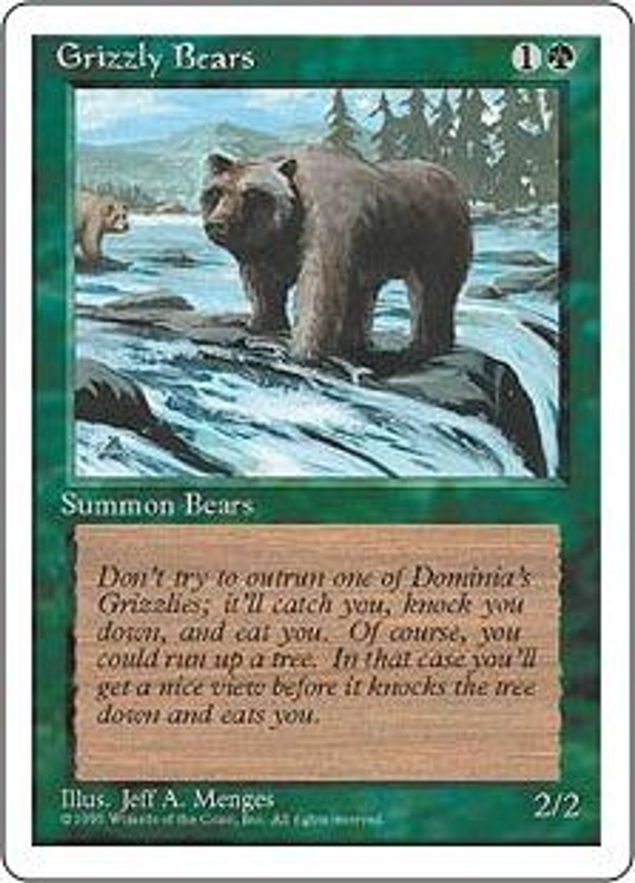 MtG 4th Edition Common Grizzly Bears