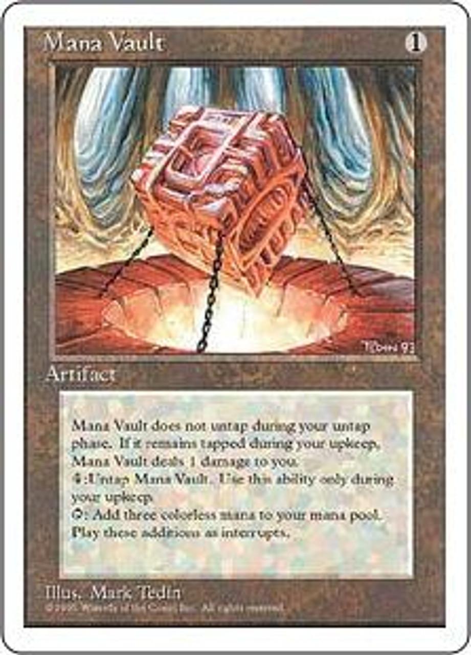 MtG 4th Edition Rare Mana Vault [Slightly Played Condition]