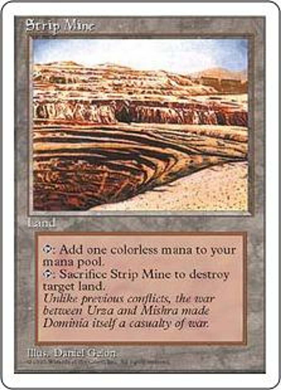 MtG 4th Edition Uncommon Strip Mine [Slightly Played]