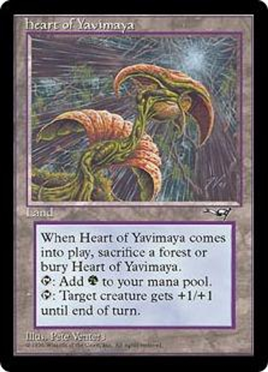 MtG Alliances Rare Heart of Yavimaya [Played Condition]