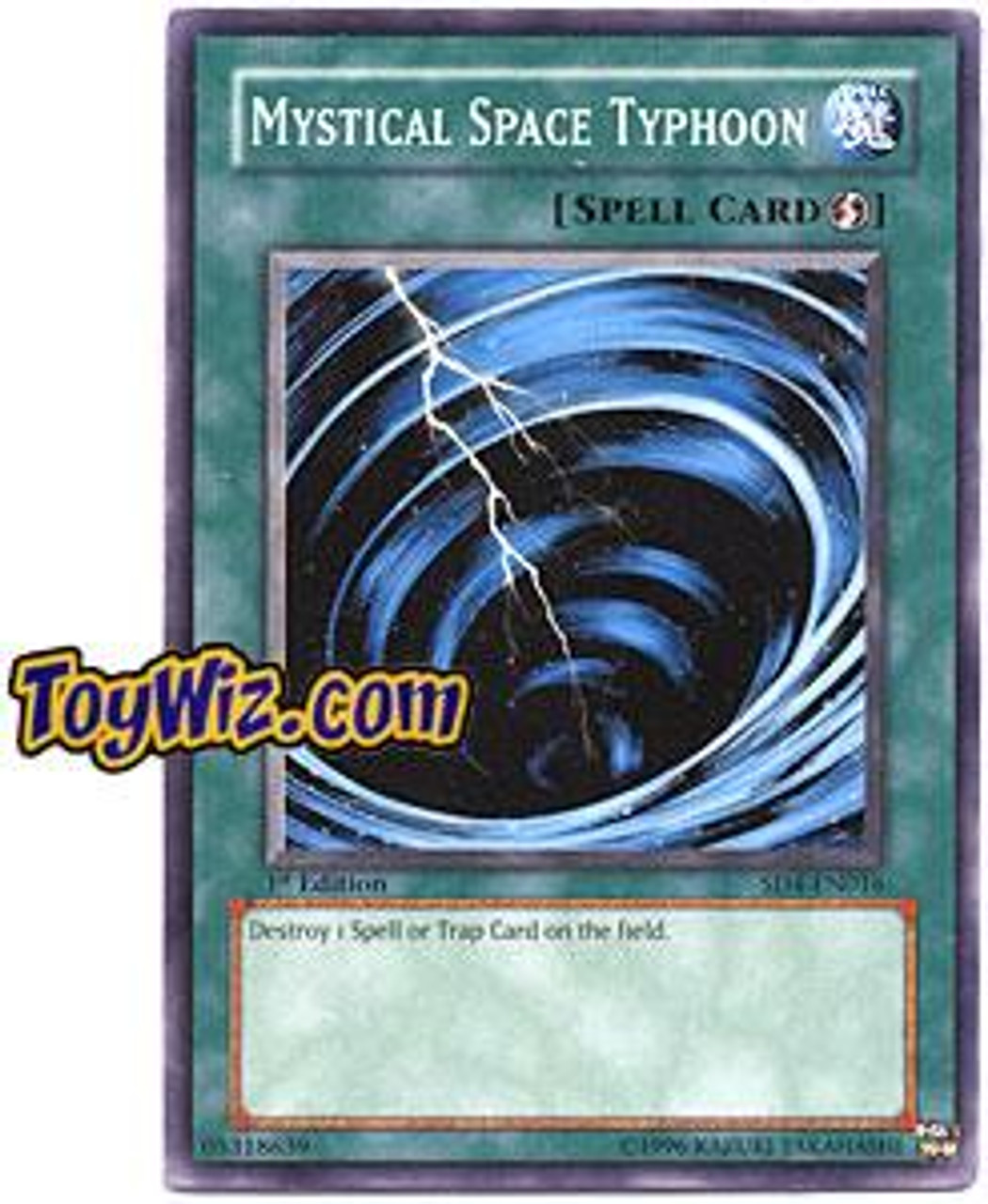 YuGiOh GX Structure Deck: Fury from the Deep Common Mystical Space Typhoon SD4-EN016