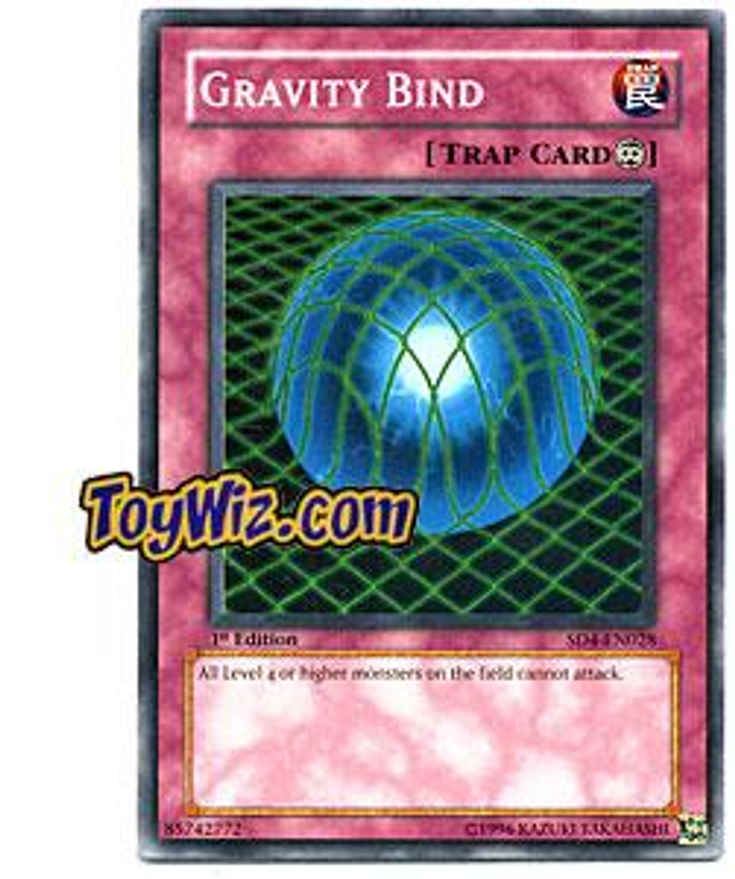 YuGiOh GX Structure Deck: Fury from the Deep Common Gravity Bind SD4-EN028