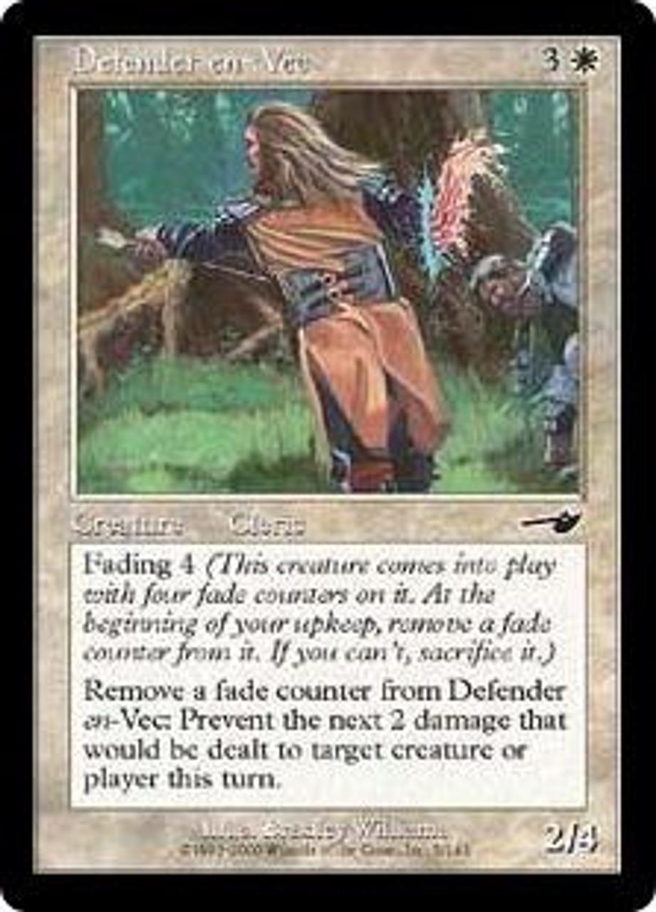 MtG Nemesis Common Foil Defender en-Vec #5
