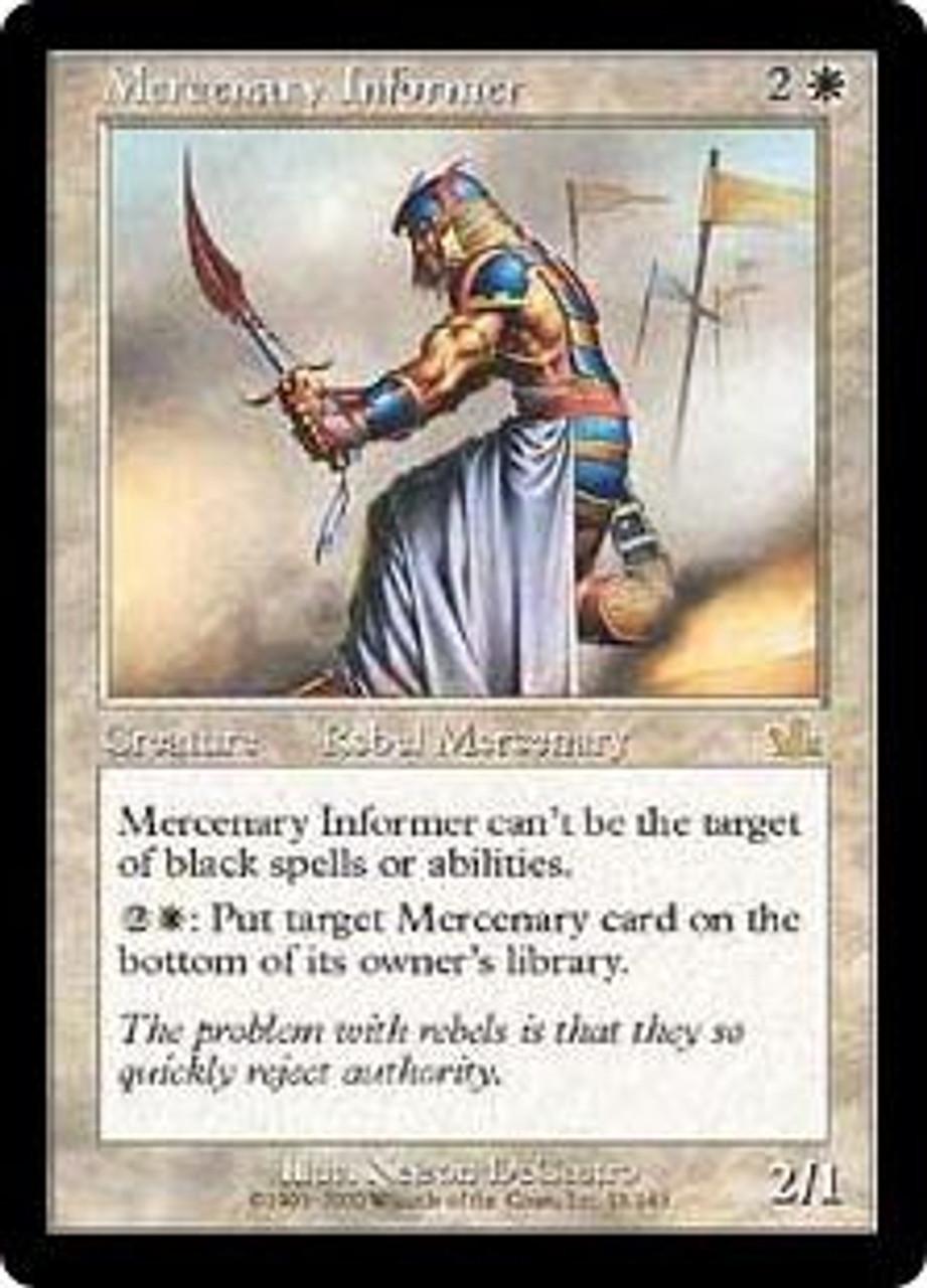 MtG Prophecy Rare Mercenary Informer #15