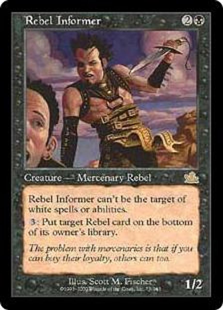 MtG Prophecy Rare Rebel Informer #75
