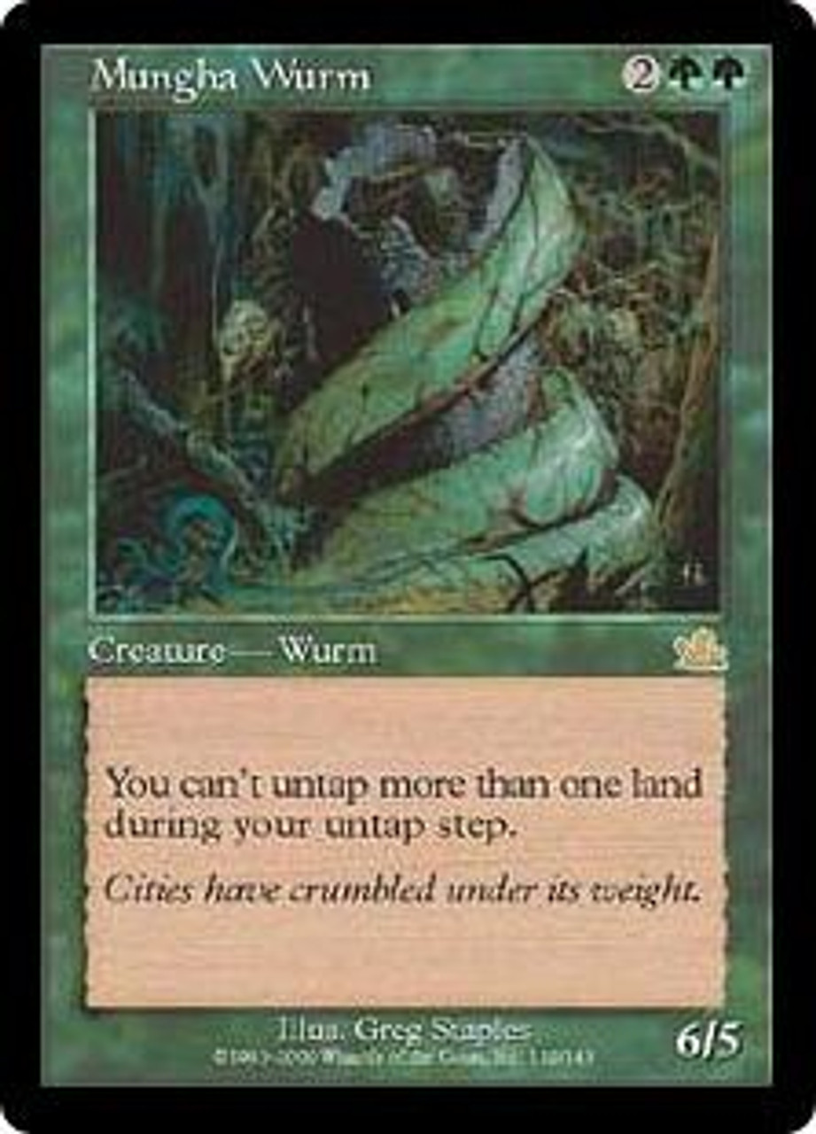 MtG Prophecy Rare Mungha Wurm #119 [Played Condition]