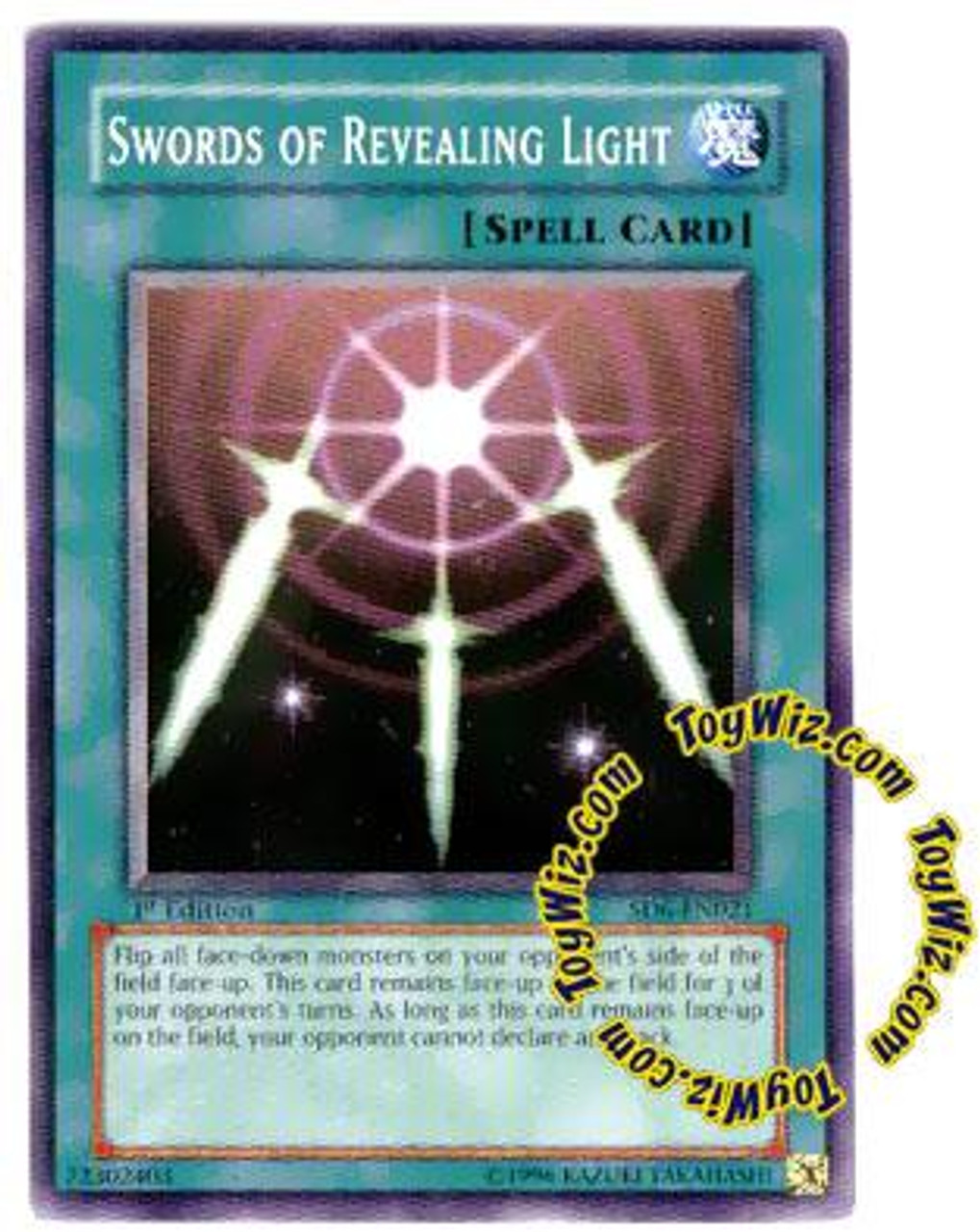 YuGiOh Structure Deck: Spellcaster's Judgment Common Swords of Revealing Light SD6-EN021