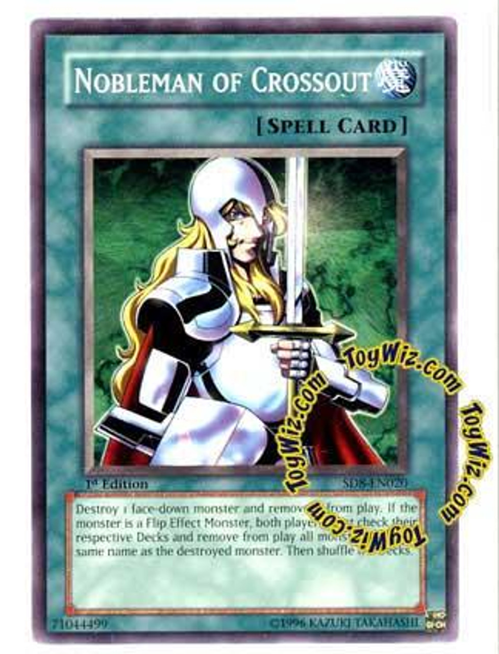 YuGiOh GX Structure Deck: Lord of the Storm Common Nobleman of Crossout SD8-EN020