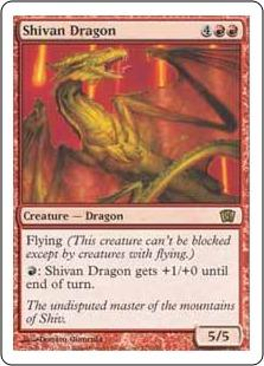 MtG 8th Edition Rare Shivan Dragon #221