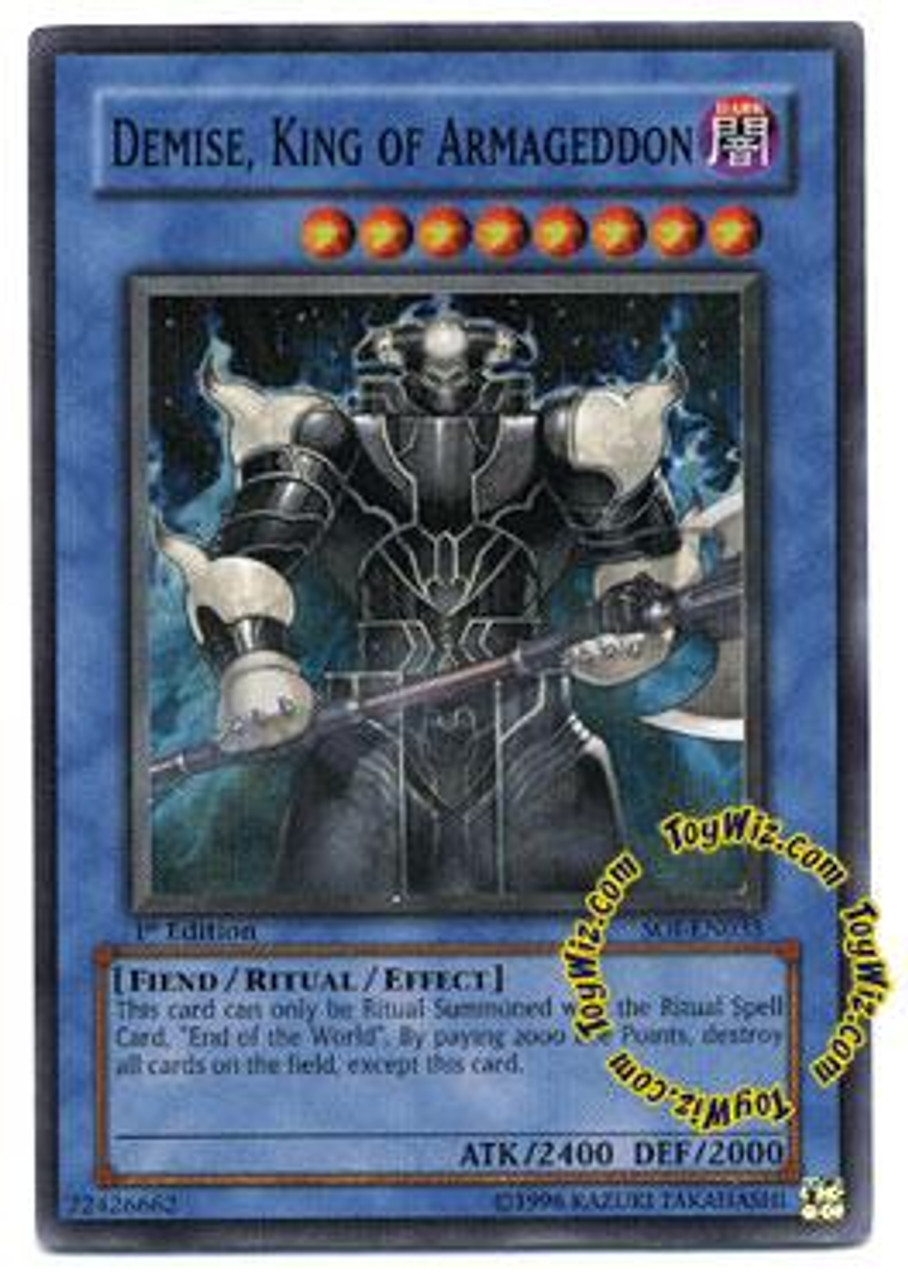 YuGiOh GX Shadow of Infinity Super Rare Demise, King of Armageddon SOI-EN035