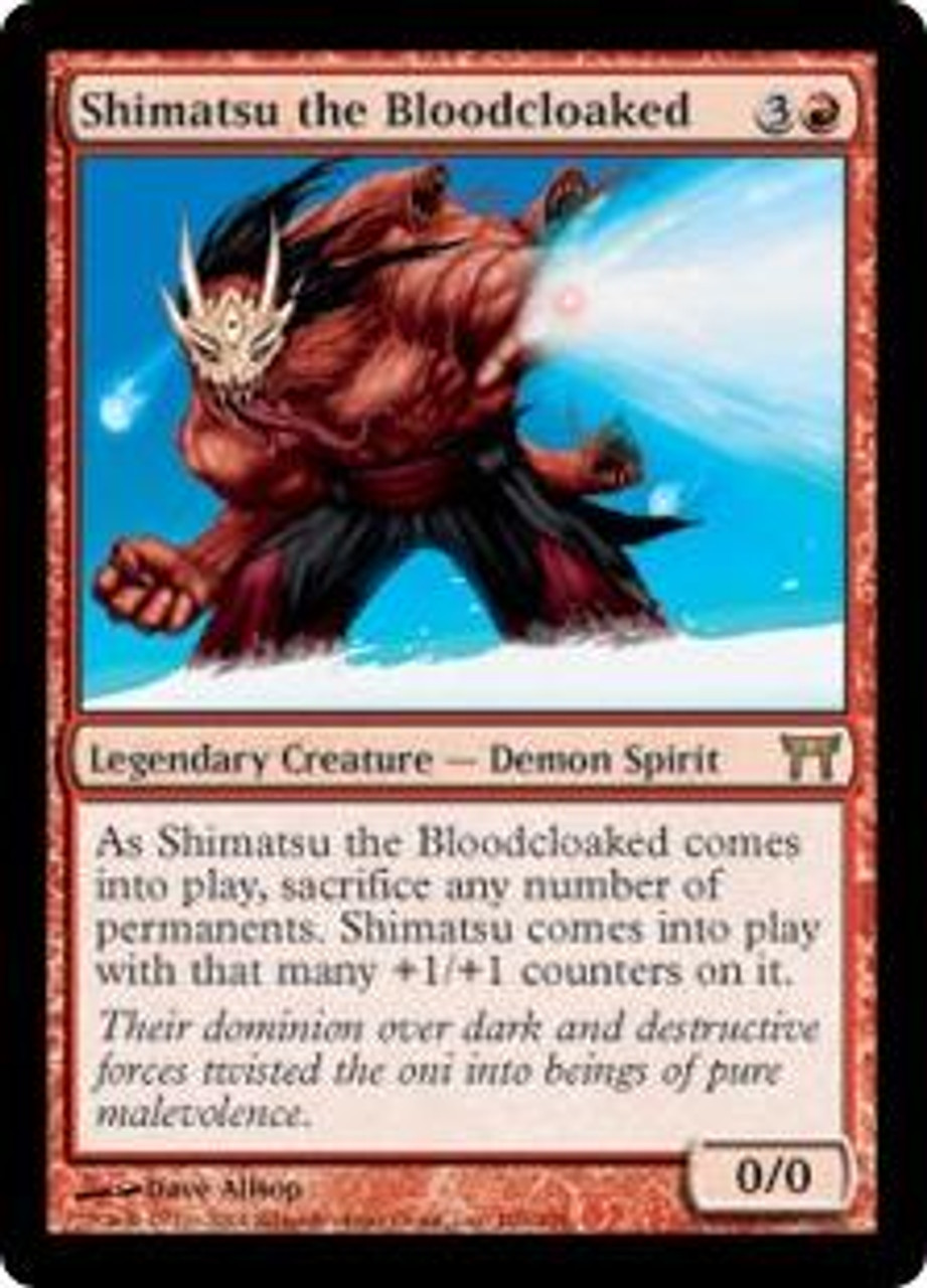 MtG Champions of Kamigawa Rare Shimatsu the Bloodcloaked #186