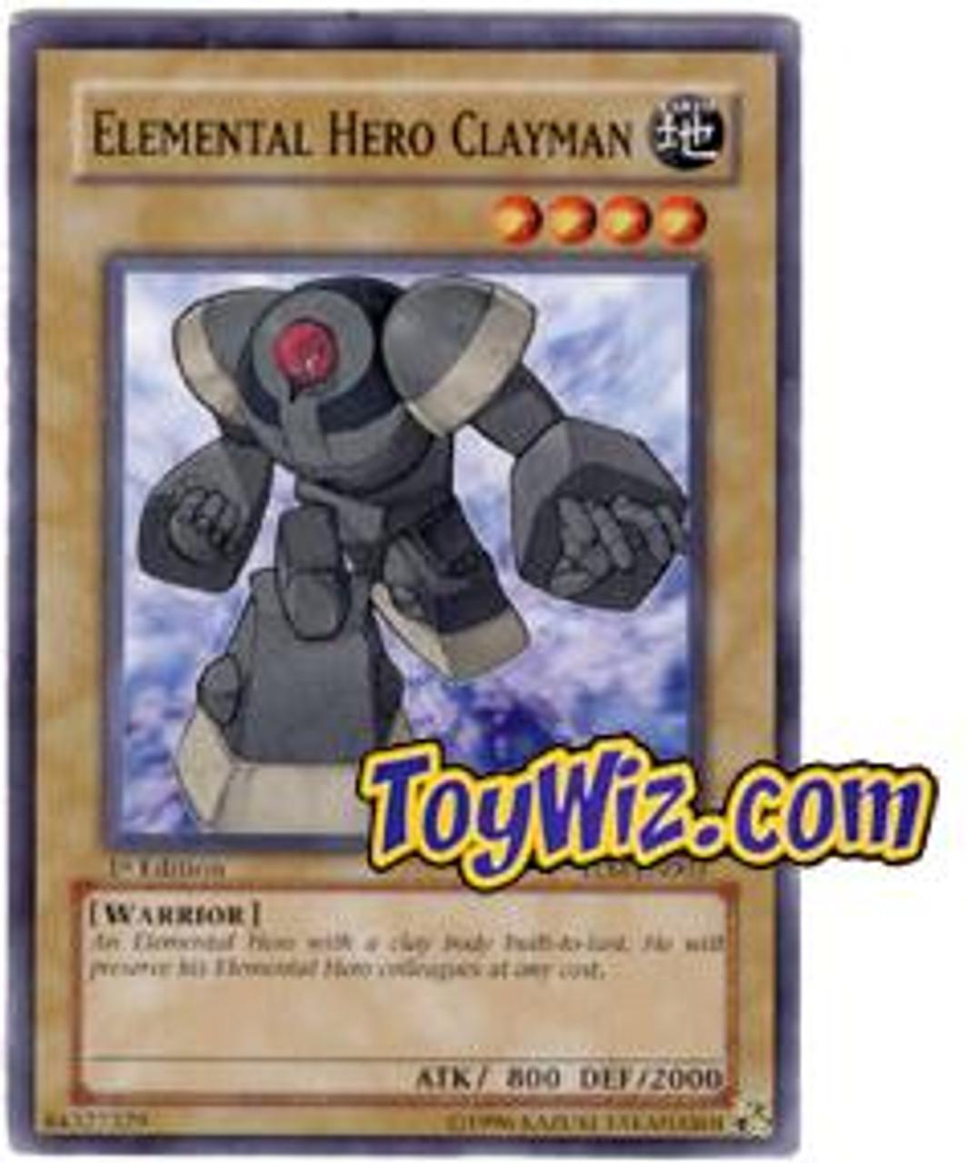 YuGiOh The Lost Millennium Common Elemental Hero Clayman TLM-EN003