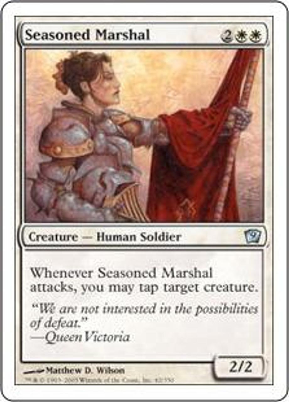 MtG 9th Edition Uncommon Seasoned Marshal #42