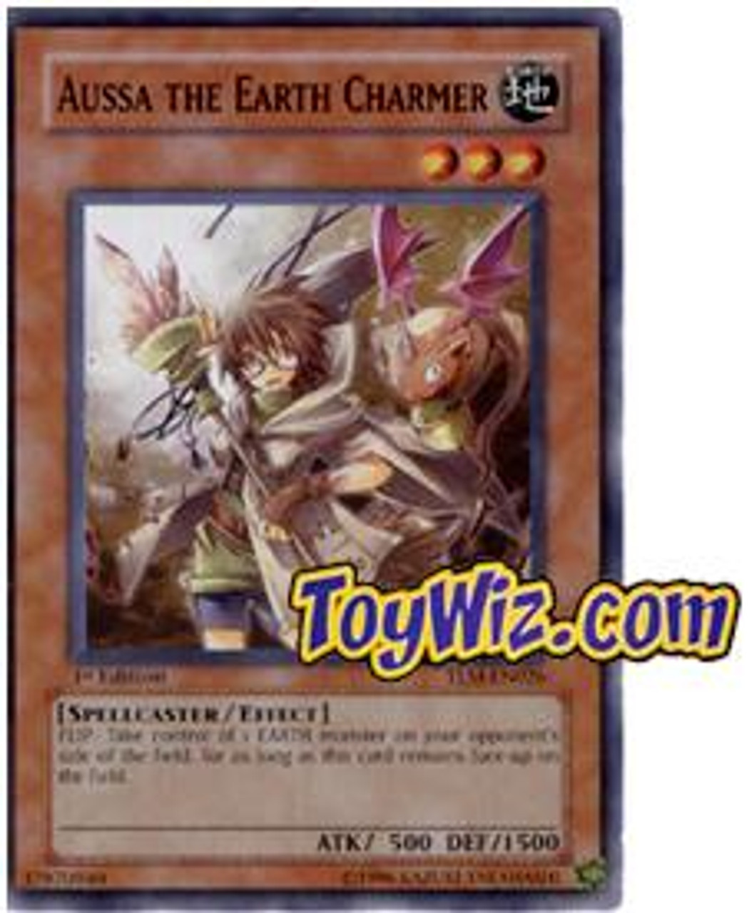 YuGiOh The Lost Millennium Common Aussa the Earth Charmer TLM-EN026