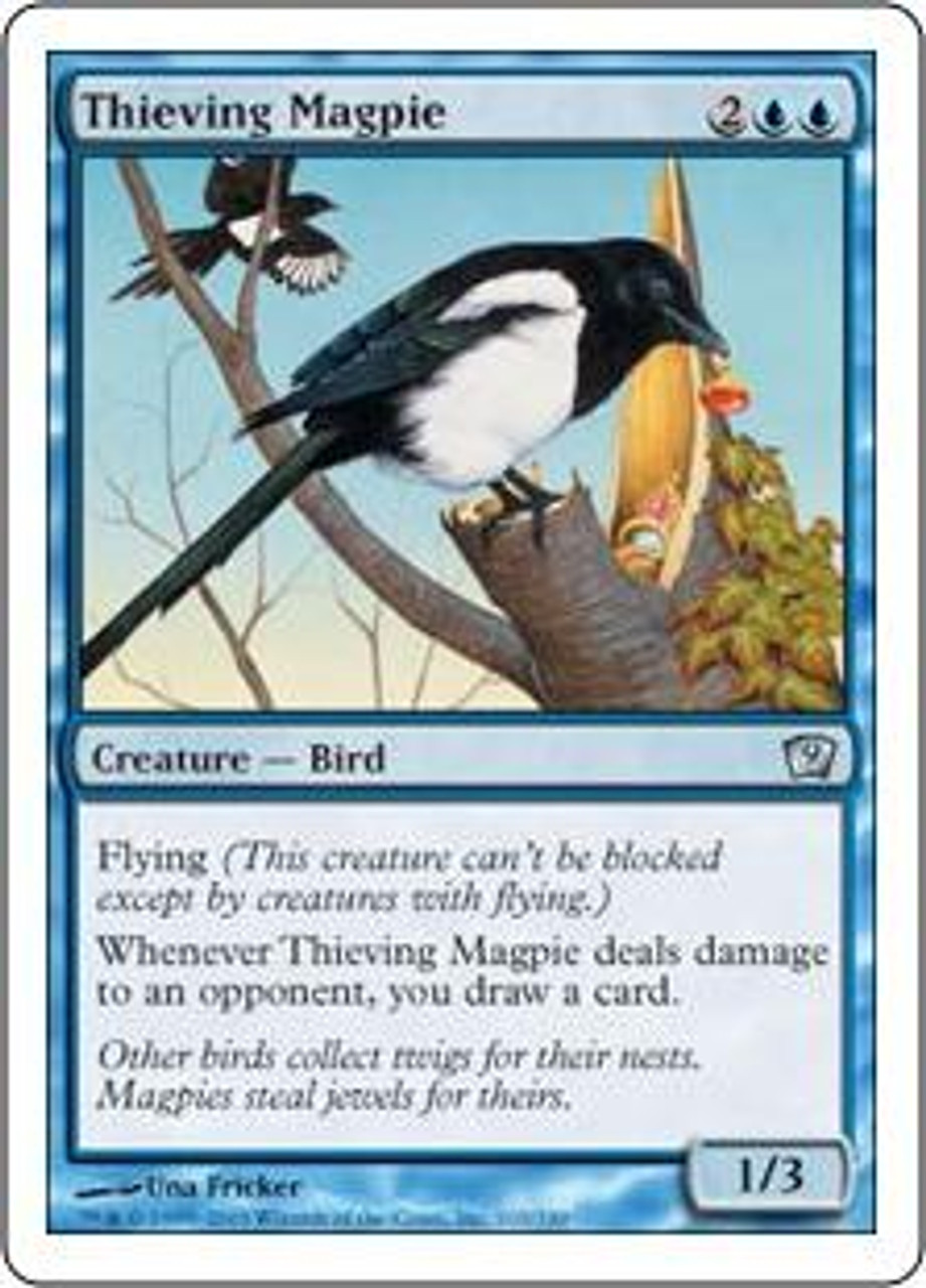 MtG 9th Edition Uncommon Thieving Magpie #103
