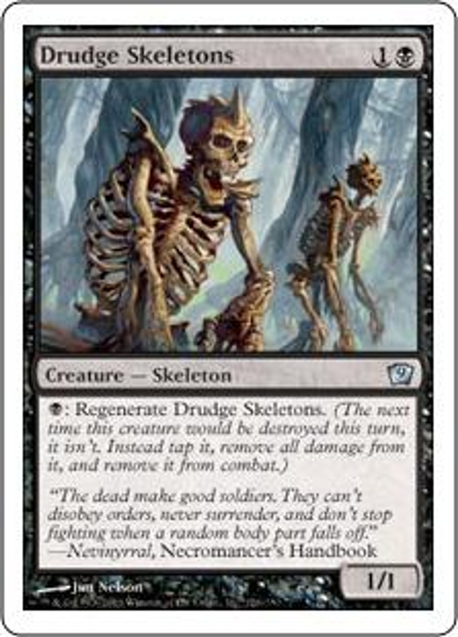 MtG 9th Edition Uncommon Drudge Skeletons #126