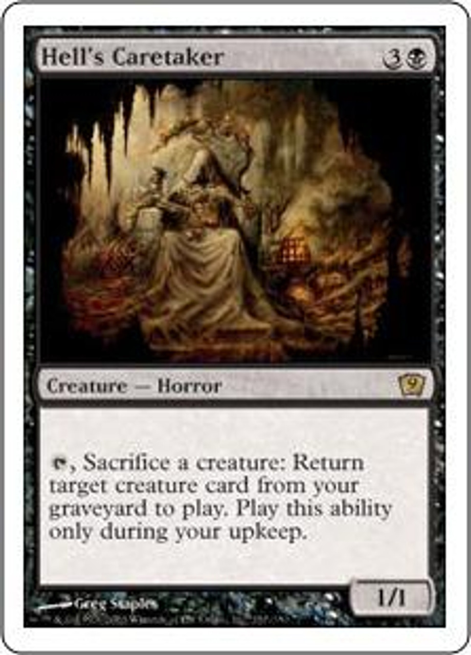 MtG 9th Edition Rare Hell's Caretaker #137