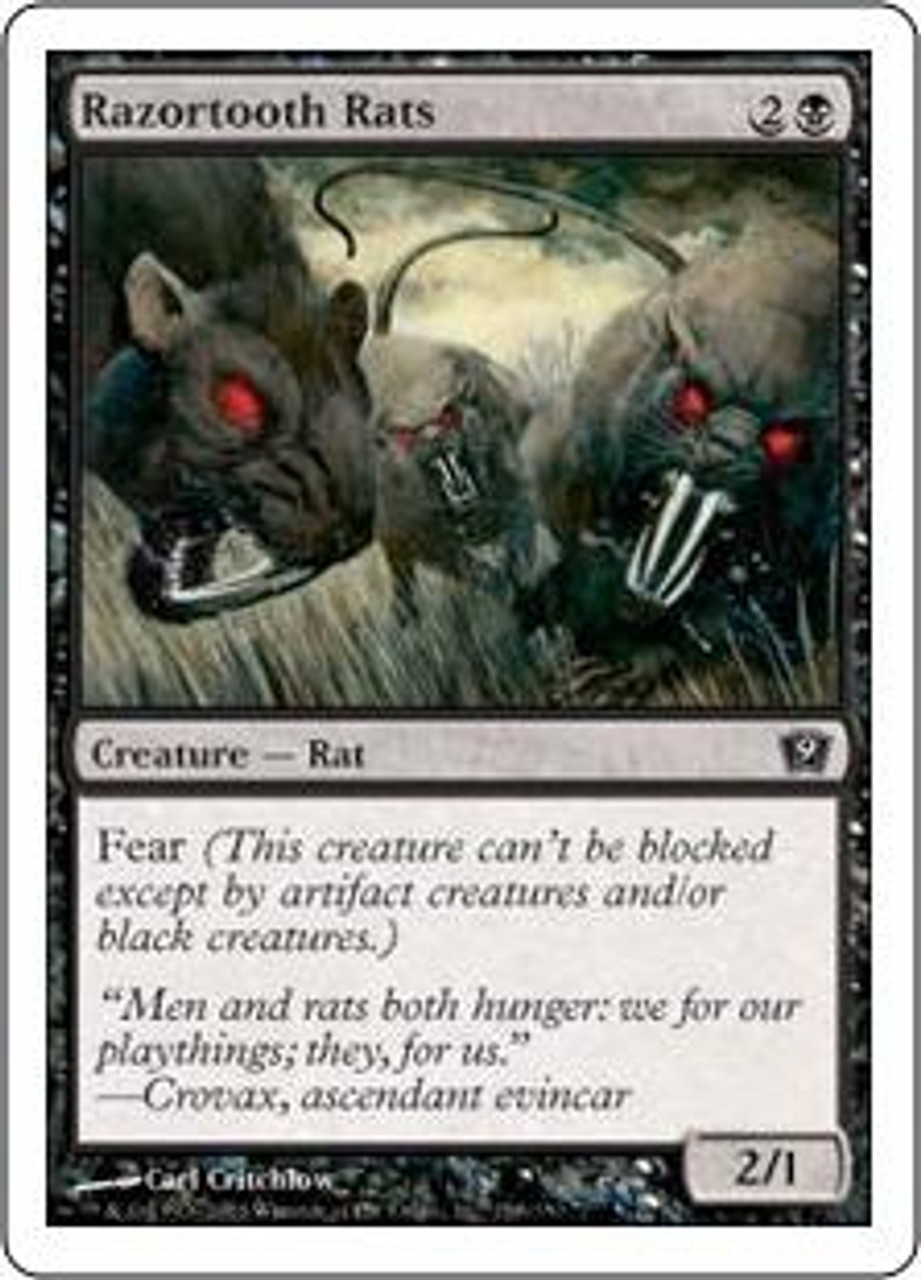 MtG 9th Edition Common Razortooth Rats #158