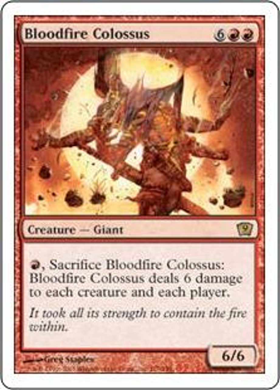 MtG 9th Edition Rare Bloodfire Colossus #177