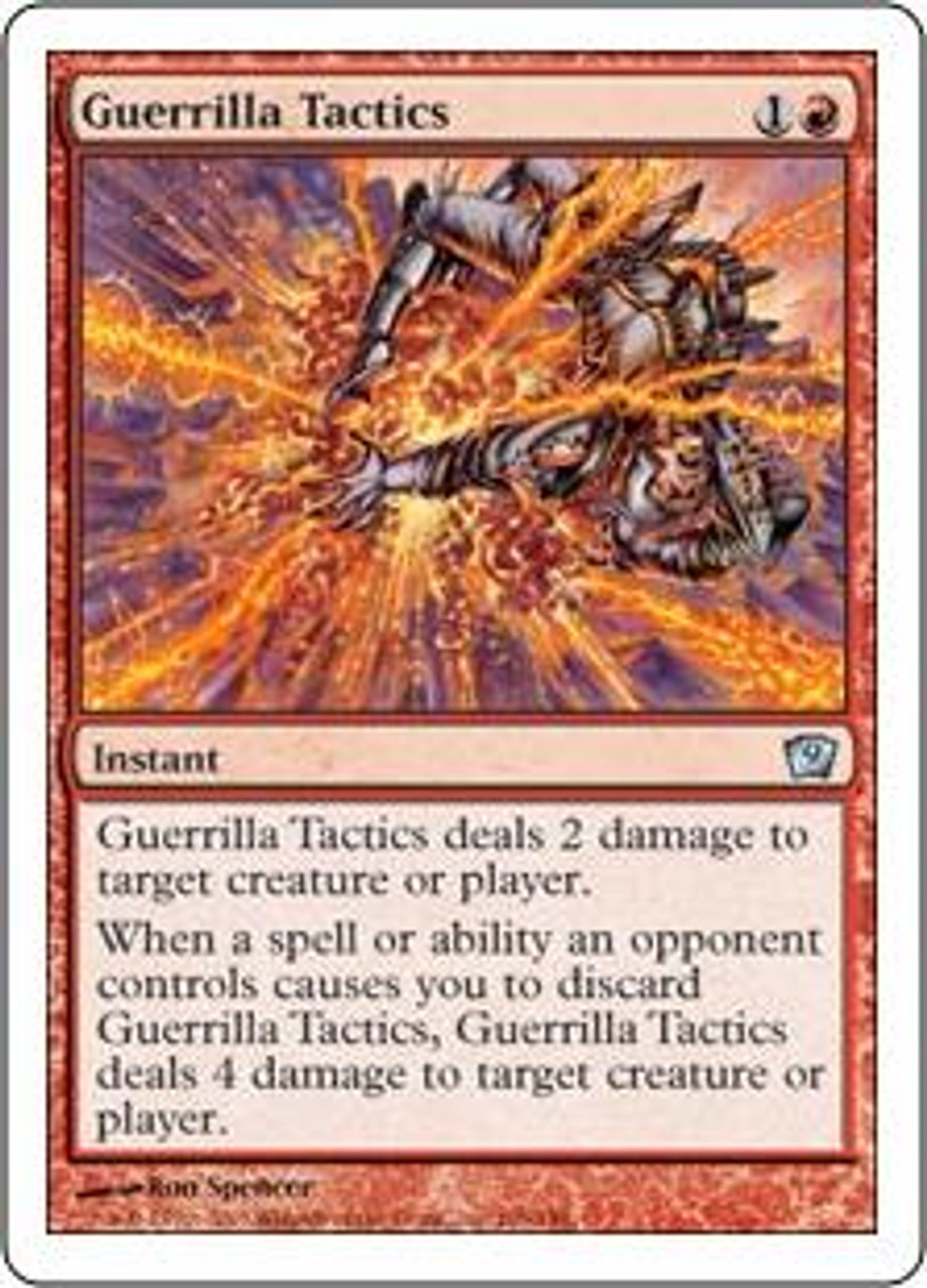 MtG 9th Edition Uncommon Guerrilla Tactics #196