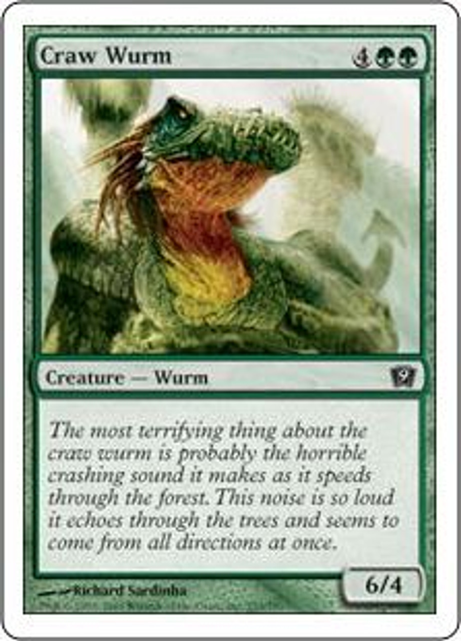 MtG 9th Edition Common Craw Wurm #233