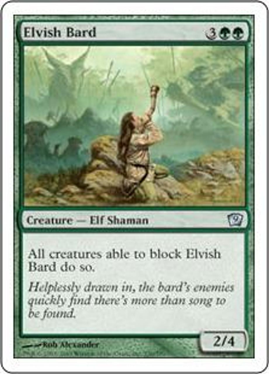 MtG 9th Edition Uncommon Elvish Bard #236