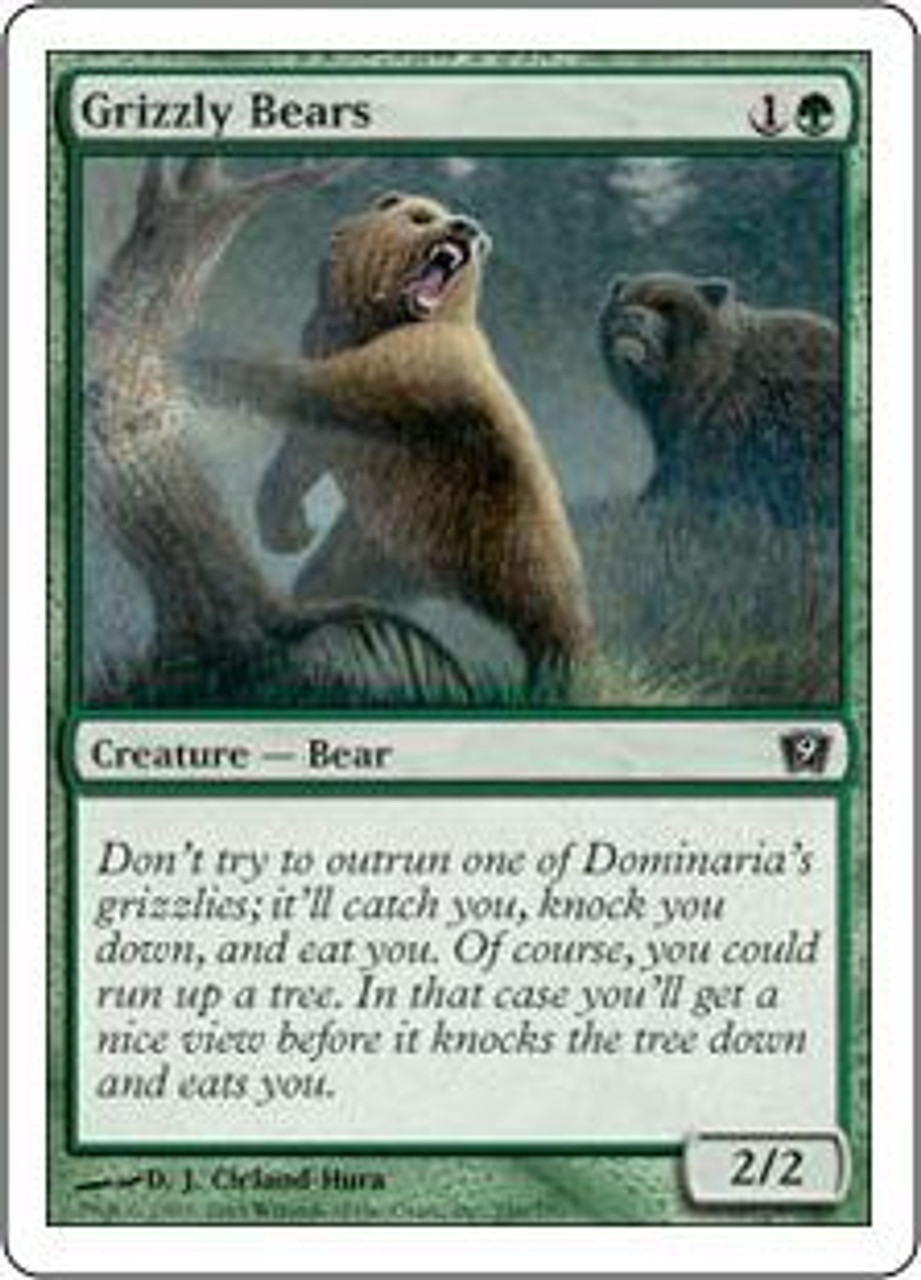 MtG 9th Edition Common Grizzly Bears #246