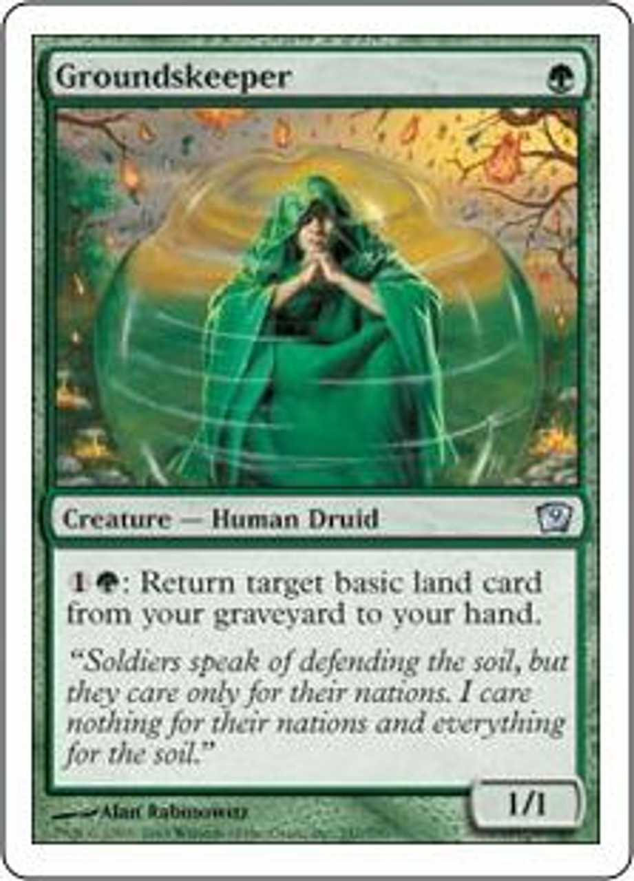 MtG 9th Edition Uncommon Groundskeeper #247