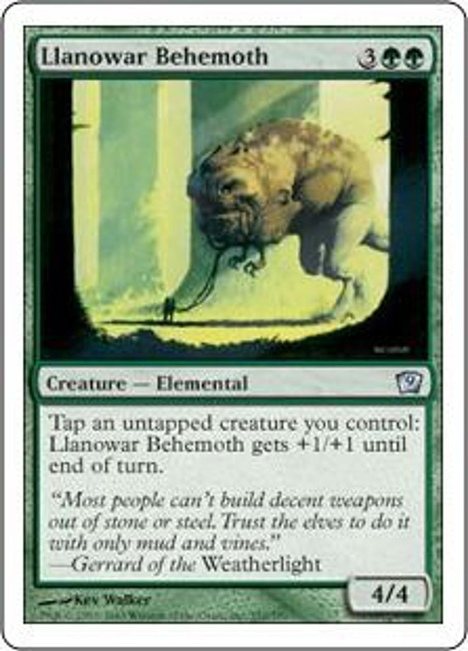 MtG 9th Edition Uncommon Llanowar Behemoth #252