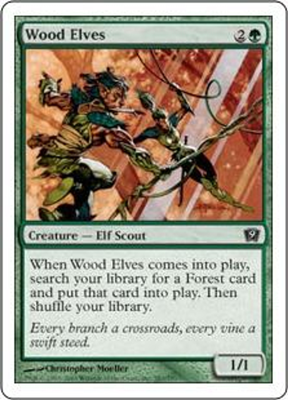 MtG 9th Edition Common Wood Elves #283