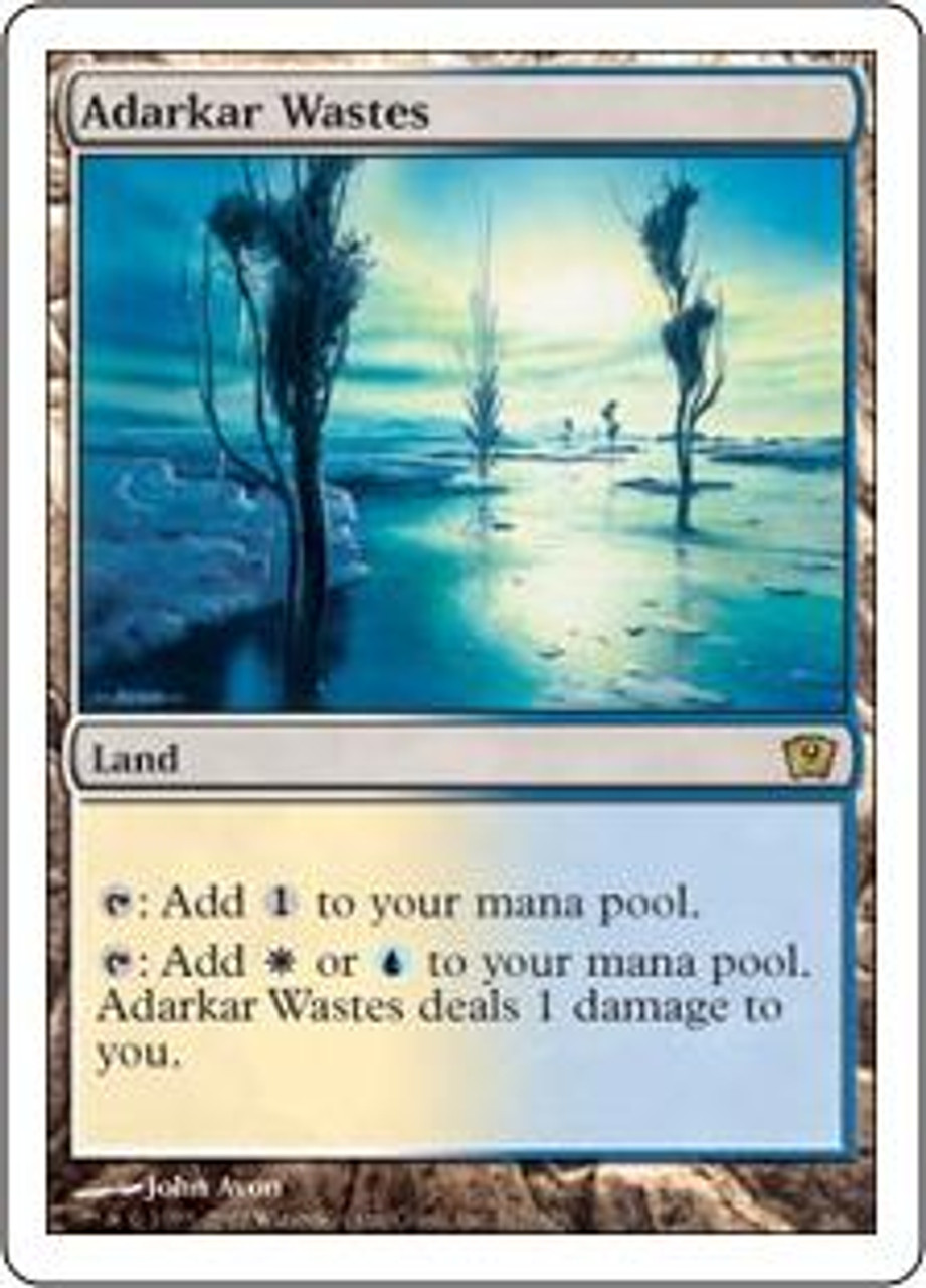 MtG 9th Edition Rare Adarkar Wastes #317