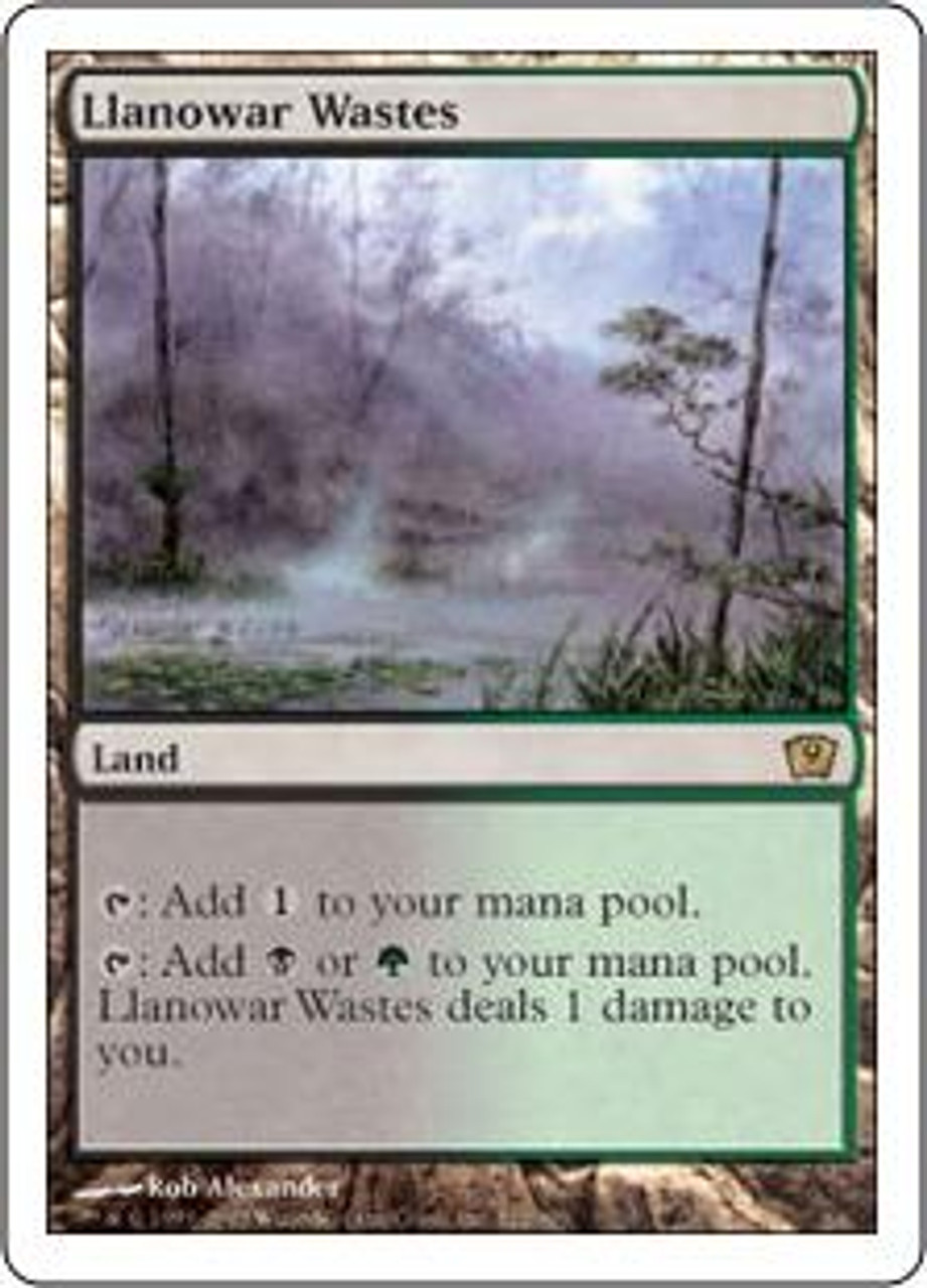 MtG 9th Edition Rare Llanowar Wastes #322