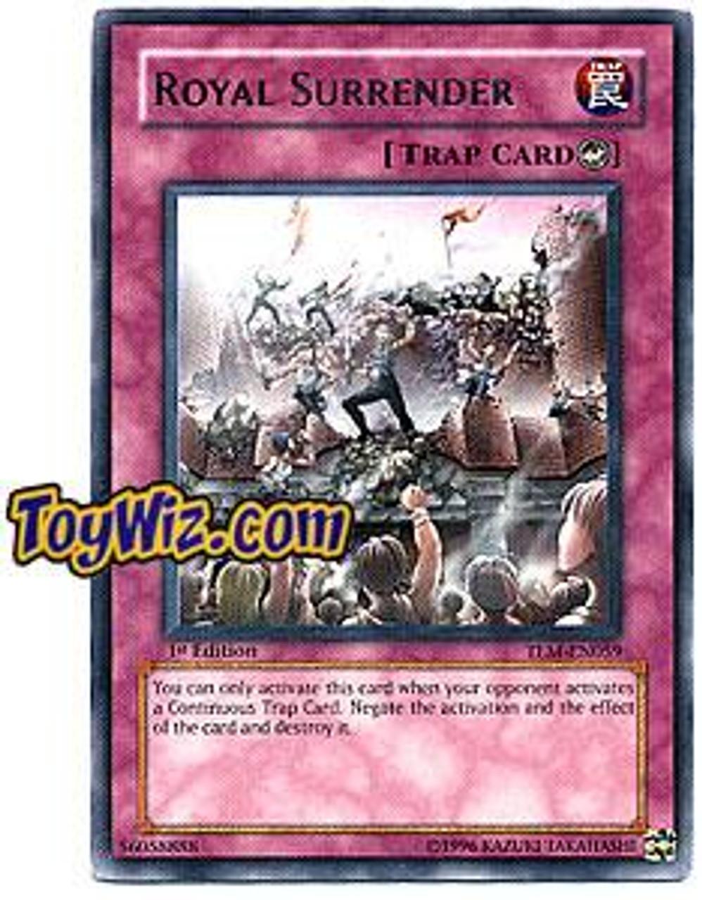 YuGiOh The Lost Millennium Rare Royal Surrender TLM-EN059