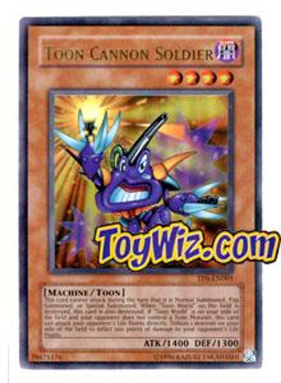 YuGiOh Tournament Pack 6 Ultra Rare Toon Cannon Soldier TP6-EN001