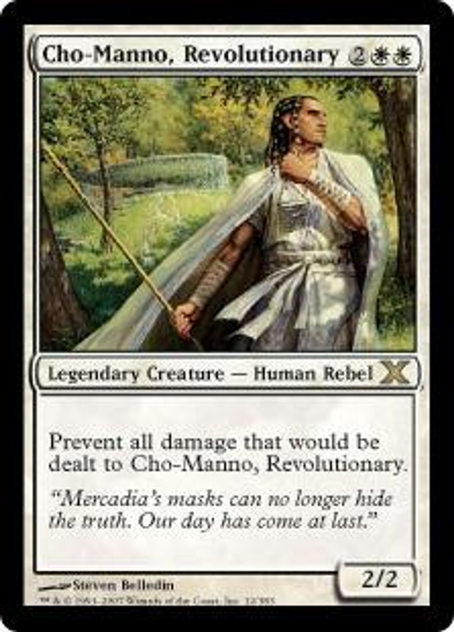 MtG 10th Edition Rare Cho-Manno, Revolutionary #12