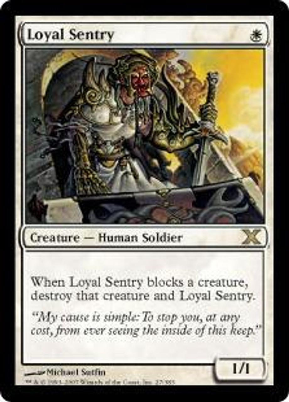 MtG 10th Edition Rare Loyal Sentry #27