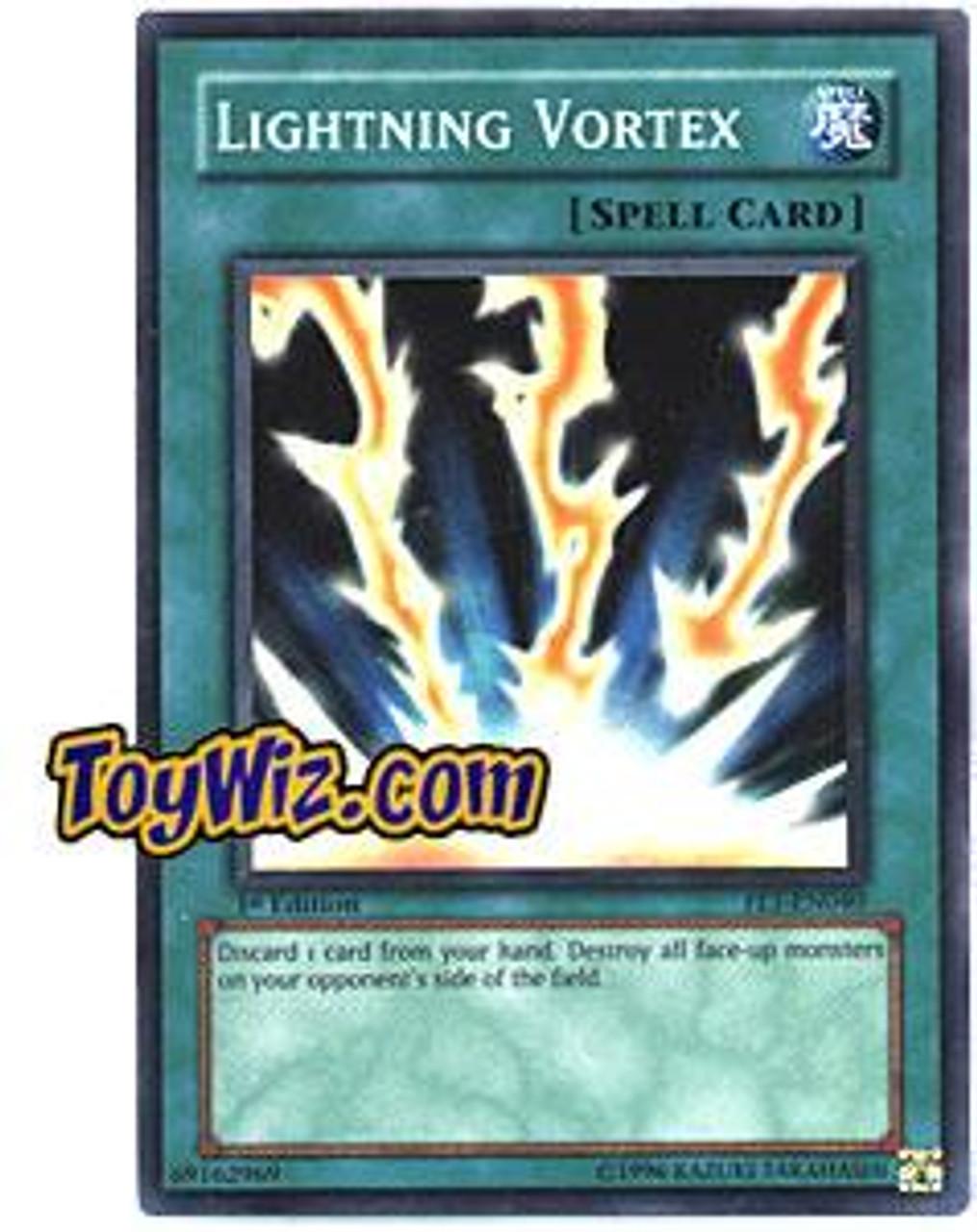 YuGiOh Flaming Eternity Super Rare Lightning Vortex FET-EN040