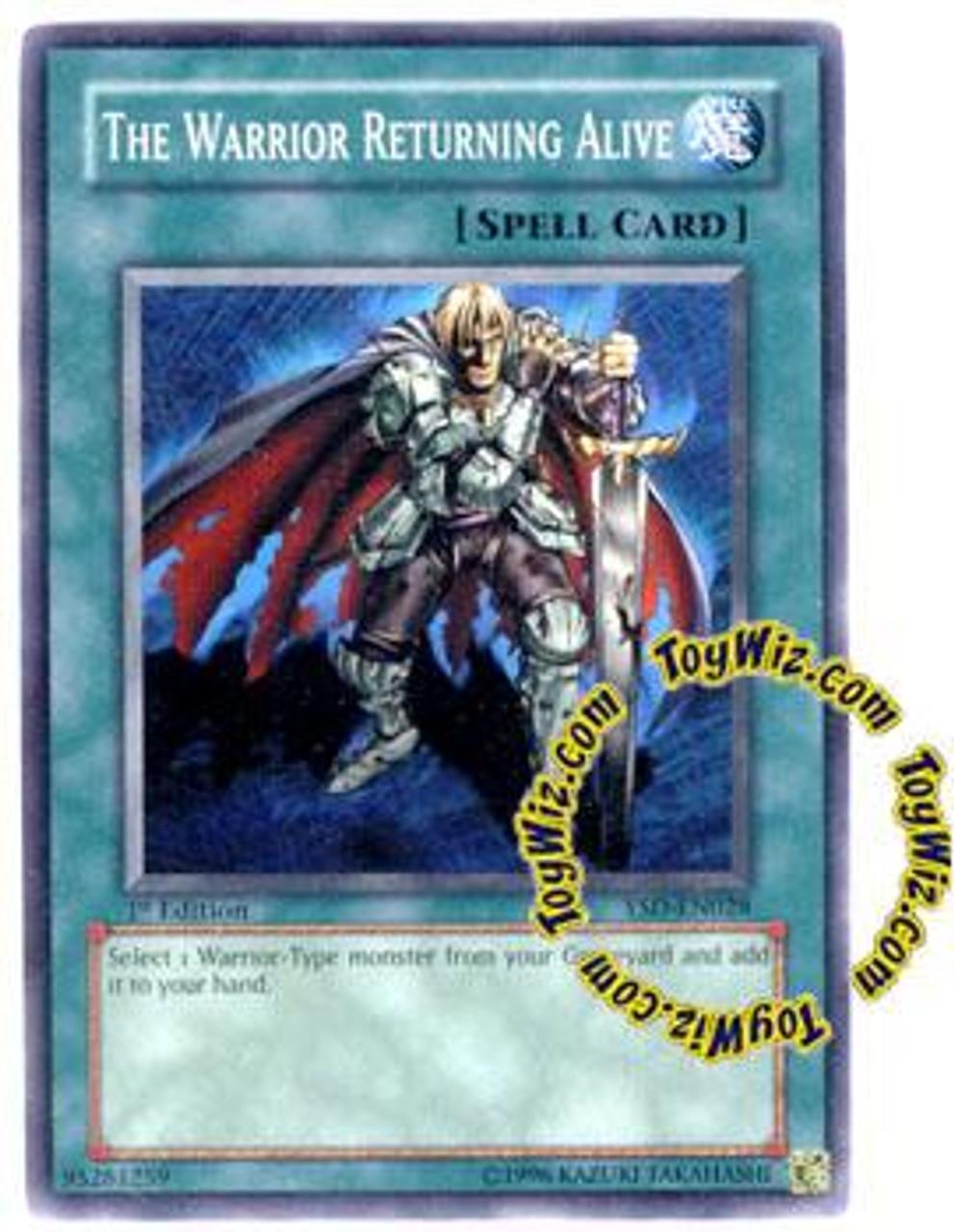 YuGiOh GX 2006 Starter Deck Common The Warrior Returning Alive YSD-EN028