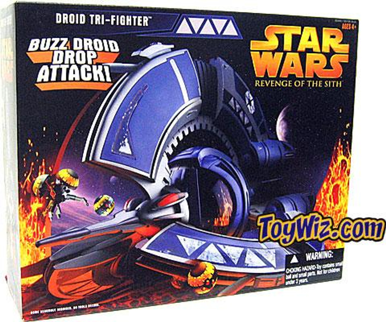 Star Wars Revenge of the Sith 2005 Droid Tri-Fighter Action Figure