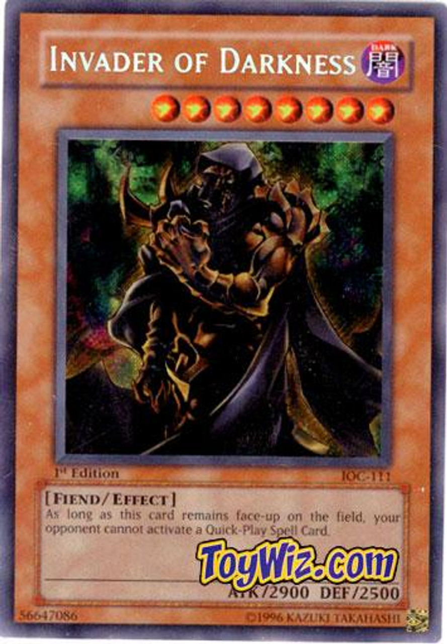 YuGiOh Invasion of Chaos Secret Rare Invader Of Darkness IOC-111
