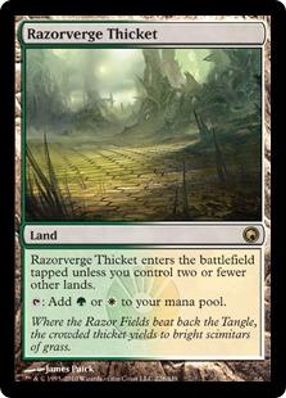 MtG Scars of Mirrodin Rare Razorverge Thicket #228
