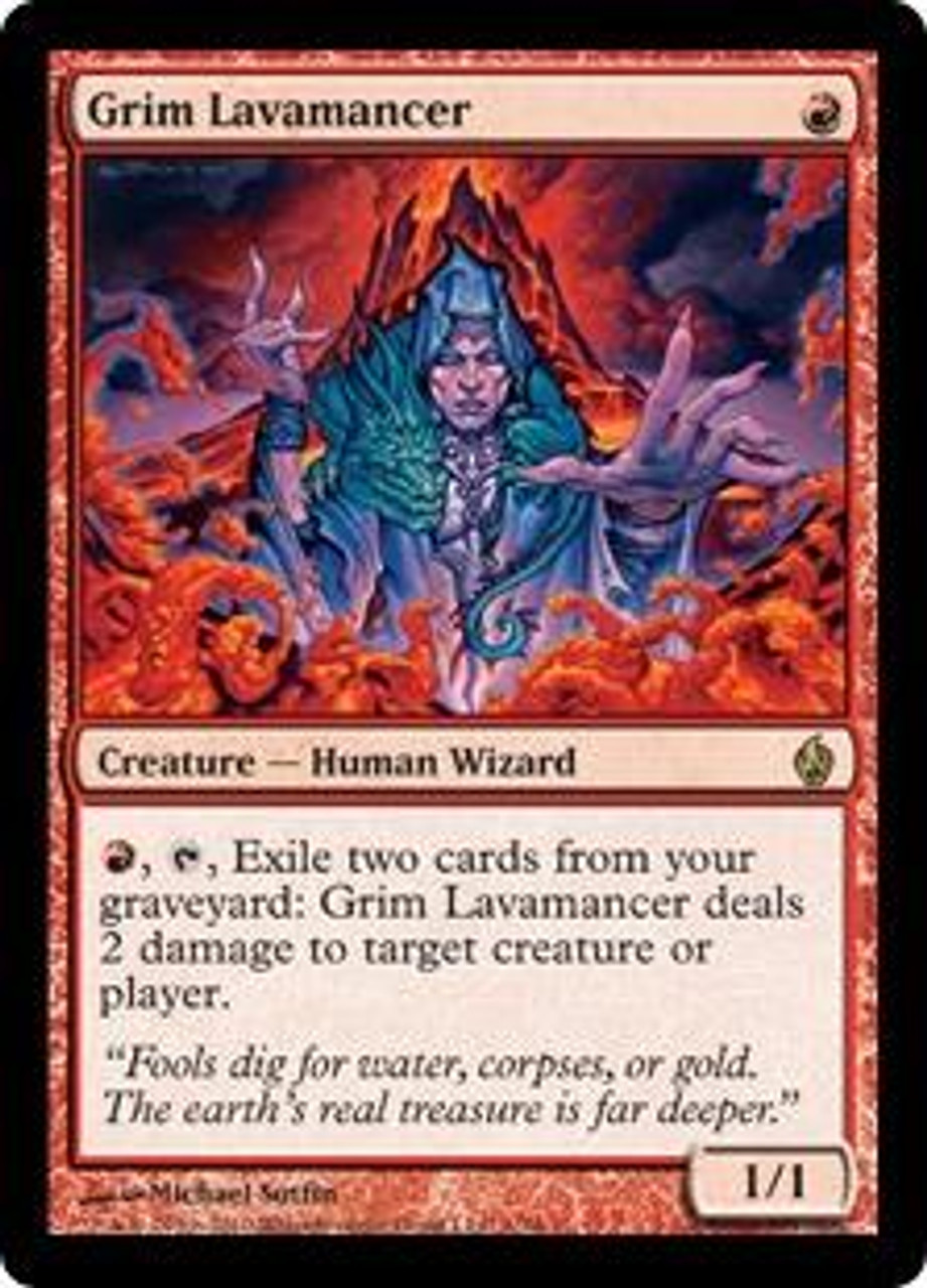MtG Premium Deck Series: Fire and Lightning Rare Grim Lavamancer #1