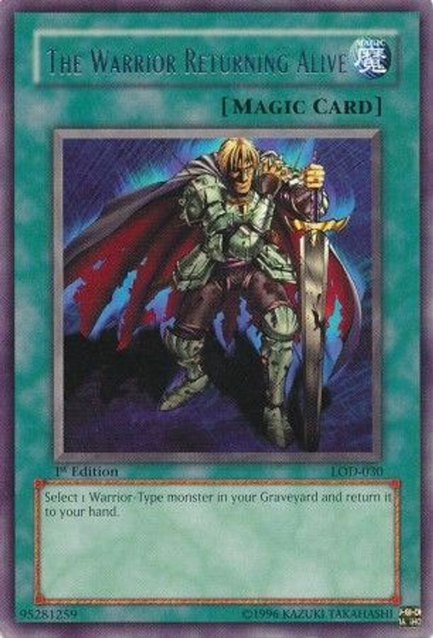 YuGiOh Legacy of Darkness Rare The Warrior Returning Alive LOD-030